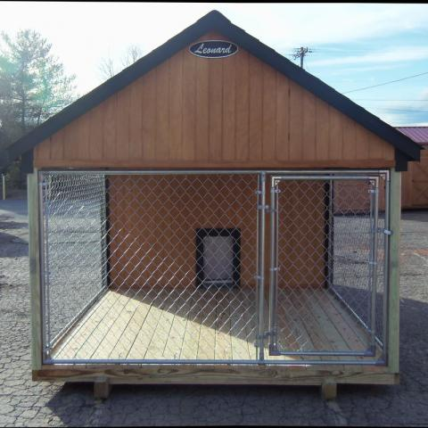 Dog House Condo with Fenced Porch, Doggy & Adult Door